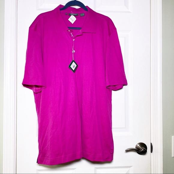 NWT Bobby Jones Fuchsia Golf Polo Shirt